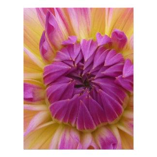 Flor púrpura tarjetas informativas