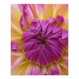 Flor púrpura tarjetas publicitarias