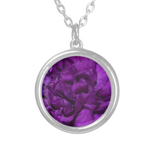 flor púrpura frecuencia intermedia colgante redondo