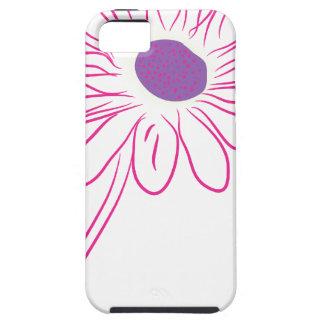 flor púrpura funda para iPhone 5 tough