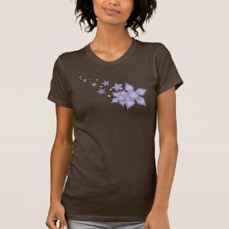 Flor púrpura hermosa linda de la estrella - Twofer Playera
