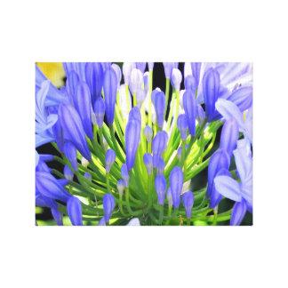Flor púrpura impresión de lienzo