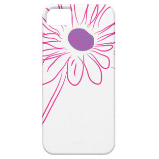 flor púrpura iPhone 5 carcasa