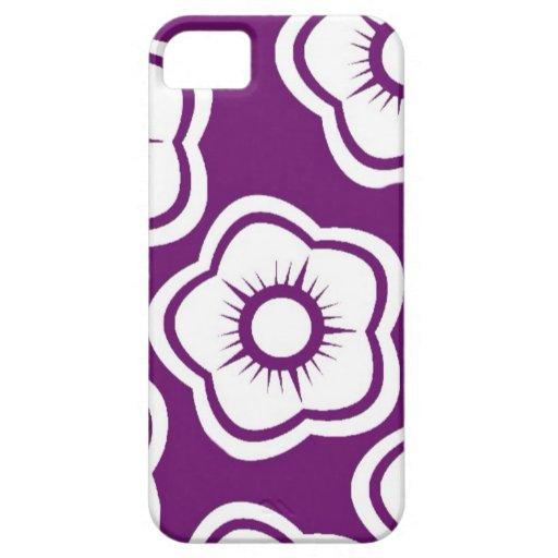 Flor púrpura iPhone 5 funda