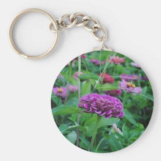 Flor púrpura llavero personalizado