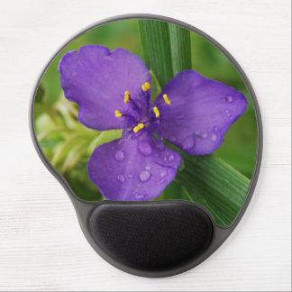 Flor púrpura lluviosa del Spiderwort de Virginia Alfombrilla Con Gel