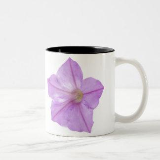 ¡flor púrpura, mañana gloriosa! taza de dos tonos