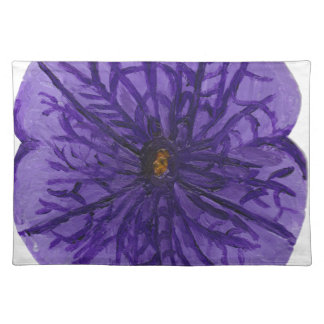 Flor púrpura manteles individuales