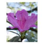 Flor púrpura membrete personalizado