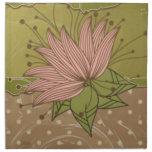 Flor púrpura moderna servilletas imprimidas