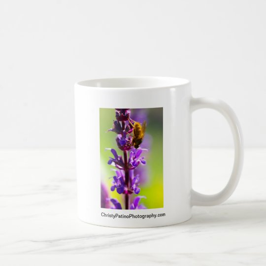 FLOR PÚRPURA, MOSCA AMARILLA TAZA DE CAFÉ