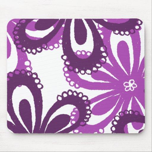 Flor púrpura mouse pads