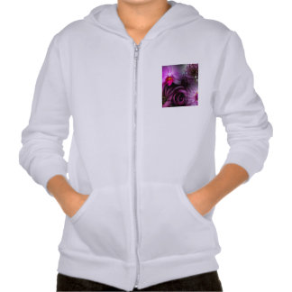 Flor púrpura sudaderas