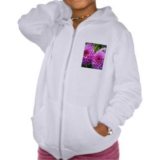 Flor púrpura sudadera