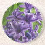 Flor púrpura posavasos cerveza