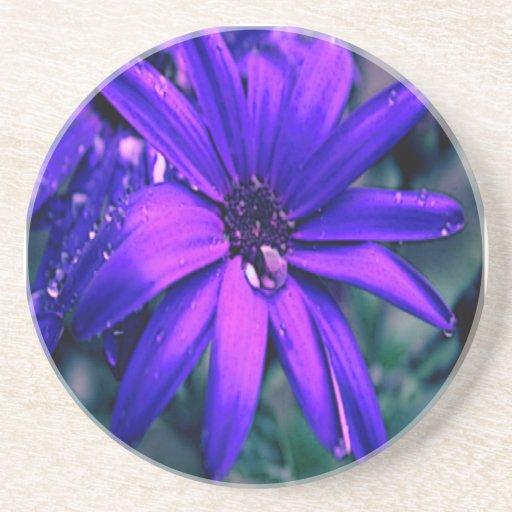 Flor púrpura posavasos para bebidas