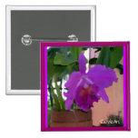 Flor púrpura Potted de la orquídea Pin
