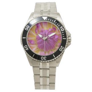 Flor púrpura reloj