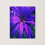 Flor púrpura rompecabezas con fotos