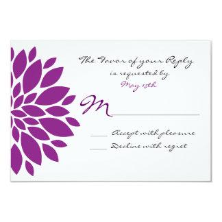 """Flor púrpura simple que casa la tarjeta de invitación 3.5"""" x 5"""""""