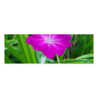 Flor púrpura tarjetas de visita