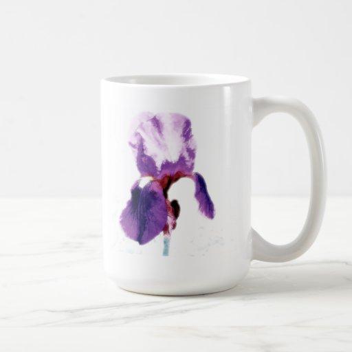 Flor púrpura taza