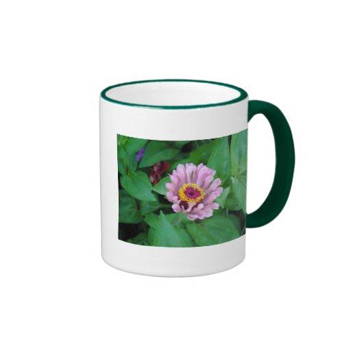 Flor púrpura taza a dos colores
