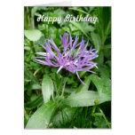 Flor púrpura Templat del botón del soltero del Cor Felicitación