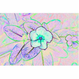 flor púrpura verde del bosquejo del molinillo de v esculturas fotograficas