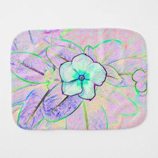 flor púrpura verde del bosquejo del molinillo de v paños para bebé