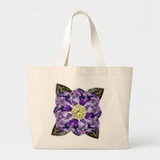 Flor púrpura, violeta de la gema bolsas