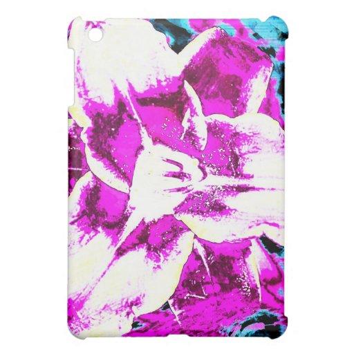 Flor púrpura y azul psicodélica