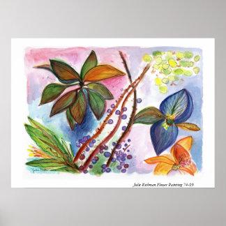Flor que pinta 74-09 póster