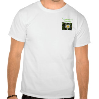 Flor radiante camiseta