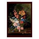 Flor-Ramo - vintage Felicitacion