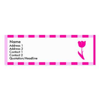 Flor rayada rosada el 2 el pipe tarjeta de visita