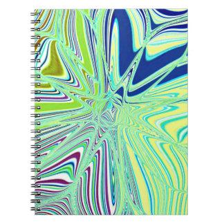 Flor reconstruida de Roberto S. Lee Spiral Notebook