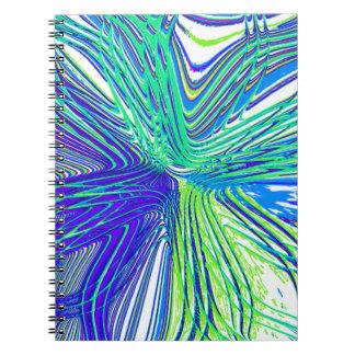 Flor reconstruida de Roberto S. Lee Spiral Notebooks