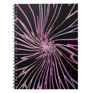 Flor reconstruido de la noche de Roberto S. Lee Libretas Espirales