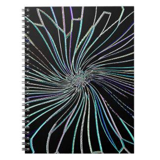 Flor reconstruido de la noche de Roberto S. Lee Spiral Notebook