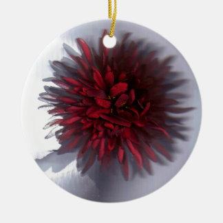 flor red.jpg adorno redondo de cerámica