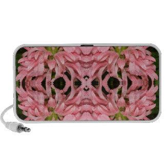 Flor reflexión enero de 2013 rosado portátil altavoces