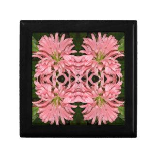 Flor reflexión enero de 2013 rosado caja de joyas
