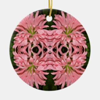 Flor reflexión enero de 2013 rosado ornamentos de reyes