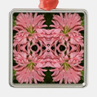 Flor reflexión enero de 2013 rosado ornaments para arbol de navidad