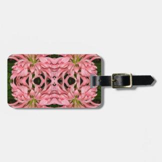 Flor reflexión enero de 2013 rosado etiquetas de equipaje