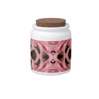 Flor reflexión enero de 2013 rosado platos para caramelos