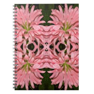 Flor reflexión enero de 2013 rosado libretas espirales