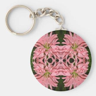 Flor reflexión enero de 2013 rosado llaveros personalizados