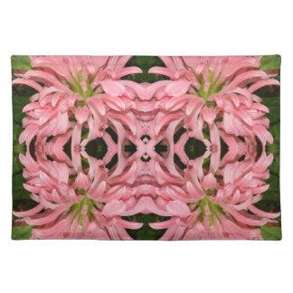 Flor reflexión enero de 2013 rosado manteles individuales